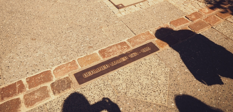 This double brick line runs through the city, marking where the Berlin Wall once stood in its entirety.