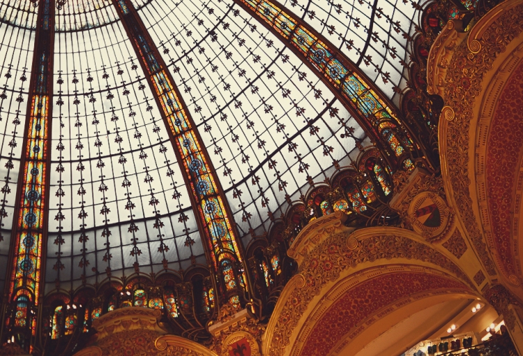 Galeries Lafayette - I was more interested in the domed roof than in the clothes!