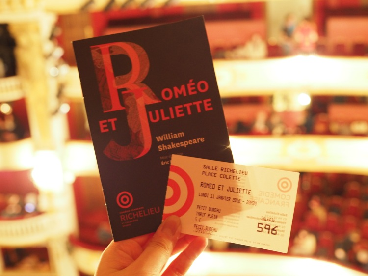 Amazing. A bizarre experience to watch Shakespeare unfold in French though. #comediefrancaisefor5euros #winning